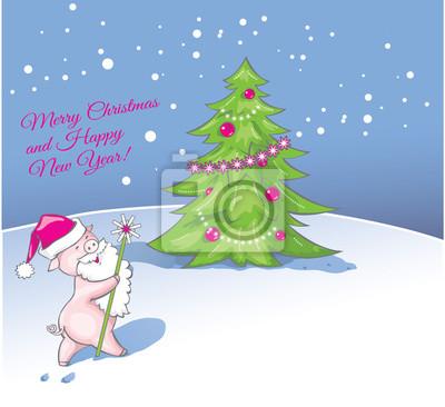 Gruß weihnachten und neujahr karte weihnachten hintergrund mit ...