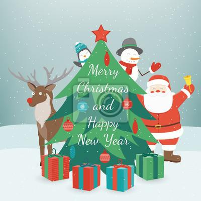 Gruß weihnachten und neujahrskarte. frohe weihnachten und guten ...