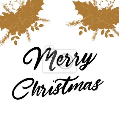 Gruß weihnachtskarte im vintage-stil. winter hintergrund ...