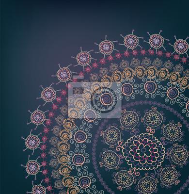 Grußkarte Design mit rundem Motiv vintage