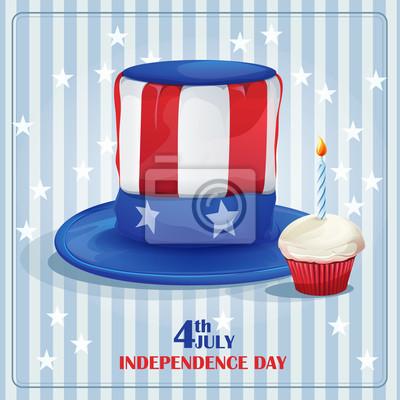 Grußkarte für Independence Day am 4. Juli.