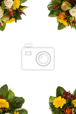 Grußkarte Vorlage mit Blumenstrauß