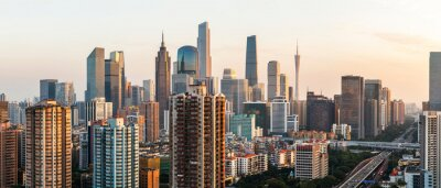 Fototapete Guangzhou city skyline