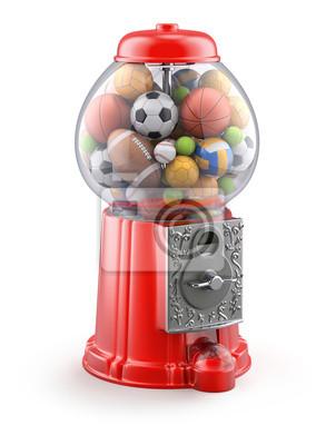 Gumball Maschine mit Sportkugeln