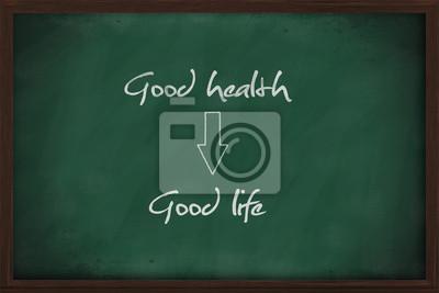 Gute Gesundheit führt zu einer guten Lebens