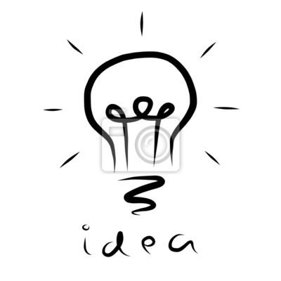 Fototapete gute Idee Glühbirne