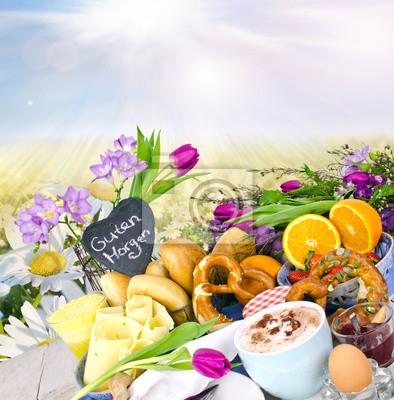 Guten Morgen Frühstück Genießen Fototapete Fototapeten