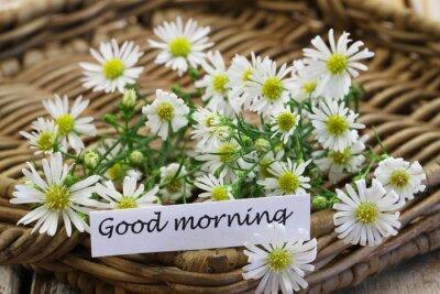 Guten Morgen Karte Mit Frischen Kamille Blumen Auf