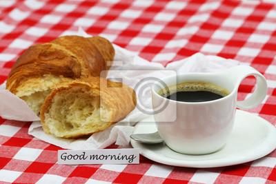 Guten Morgen Karte Mit Tasse Kaffee Und Französisch