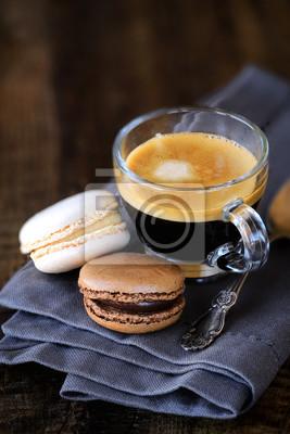 Guten Morgen Konzept Mit Espresso Und Makronen Fototapete
