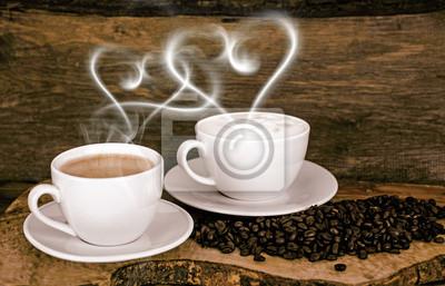 Guten Morgen Liebe Zu Kaffee Und Cappuccino Fototapete