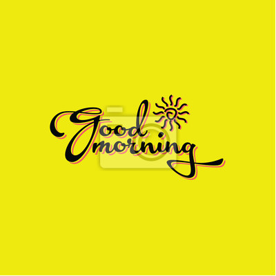 Guten Morgen Logo Vektor Vorlage Design Fototapete