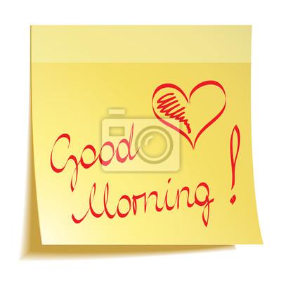 Guten Morgen Notiz Mit Herz Fototapete Fototapeten Nubes