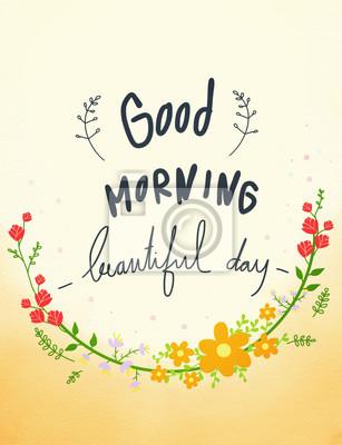 Guten Morgen Schönen Tag Kleine Erfrischung Ich Wünsche
