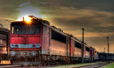 Fototapete Güterbahnhof HDR Stillleben