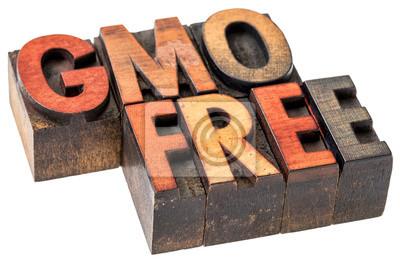 GVO freie Banner in Holz-Typ