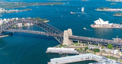 Fototapete Hafen von Sydney. Atemberaubende Luftaufnahme an einem sonnigen Tag