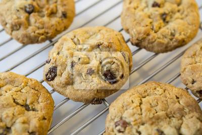 Haferflocken Cookies auf Kühlung Rack