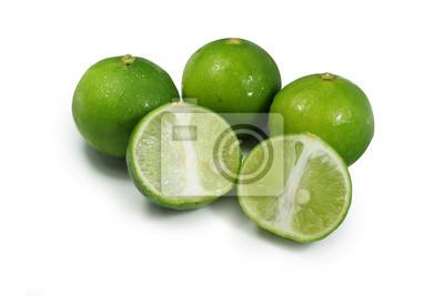 Halb grüne Zitrone