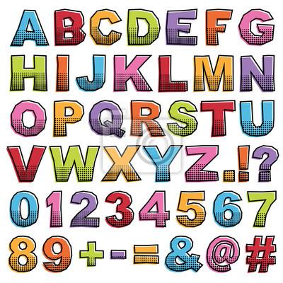 Halbton Alphabet