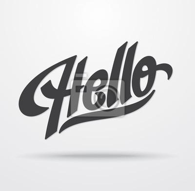 Hallo Hand Schriftzug