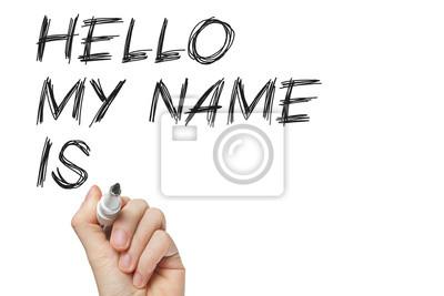 Hallo mein Name ist