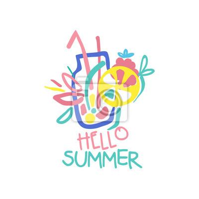 Hallo sommer logo original design, label für den sommerurlaub ...