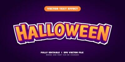 Fototapete halloween editable text effect