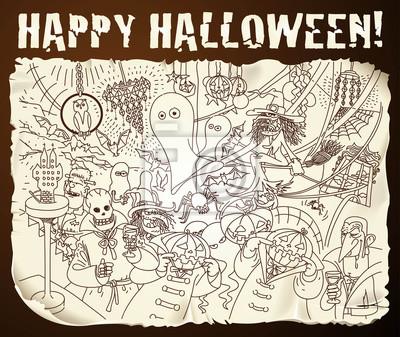 Halloween-Karikatur backround