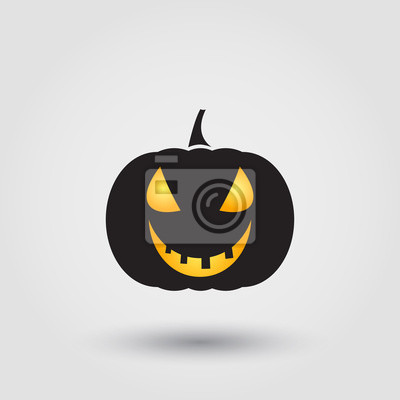 Halloween-kürbis fototapete • fototapeten scarey, unruhig ...