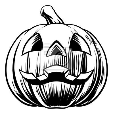 Halloween kürbis illustration fototapete • fototapeten scarey, Ätzen ...