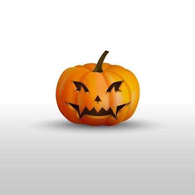 Halloween-kürbis mit erschreckendem gesicht fototapete • fototapeten ...