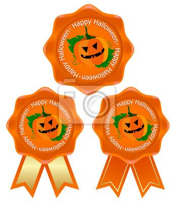 Fototapete Halloween-Kürbis Rahmenband