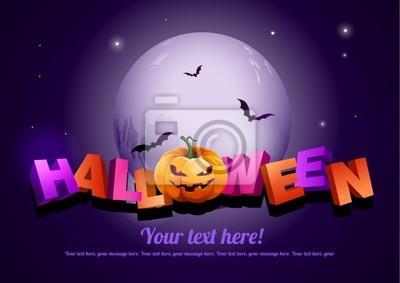 Halloween-Plakat-Vorlage