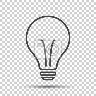 Halogen glühbirne symbol. glühbirne zeichen. elektrizität und ...