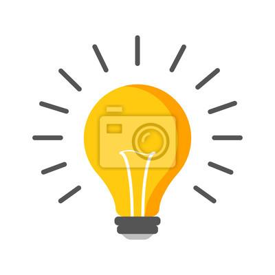 Halogen-glühbirne-symbol. glühbirne zeichen. elektrizität und ...