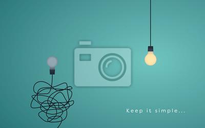 Fototapete Halten Sie es einfaches Geschäftskonzept für Marketing, Kreativität, Projektmanagement.