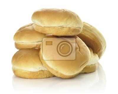 Hamburger Brötchen auf weißem Hintergrund isoliert