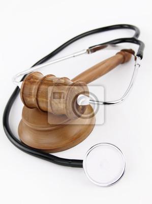 Hammer des Richters und Stethoskop