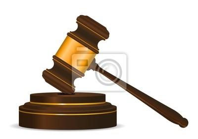Hammer-Symbol als ein Konzept der Gesetz oder Auktion