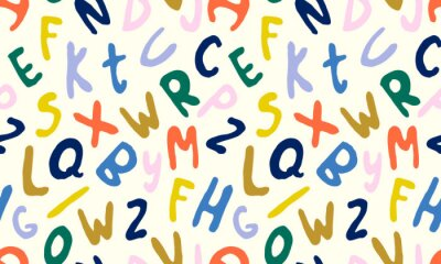 Hand drawn letters ABC isolated on white background. Hand drawn font font, funky and grunge alphabet, vector illustration graphic. Spring illustration