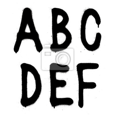 Hand geschrieben Graffiti Schriftart Alphabet. Vector (Teil 1)