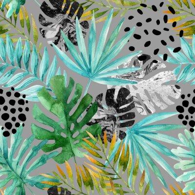 Fototapete Hand gezeichnet abstrakten tropischen Sommer Hintergrund