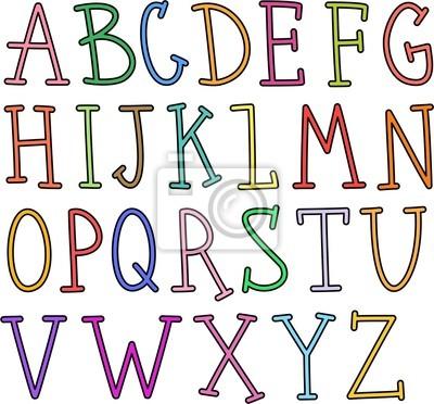 Hand gezeichnet Alphabet Text