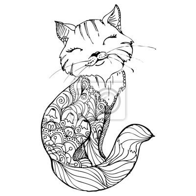 malvorlagen fur erwachsene katzen