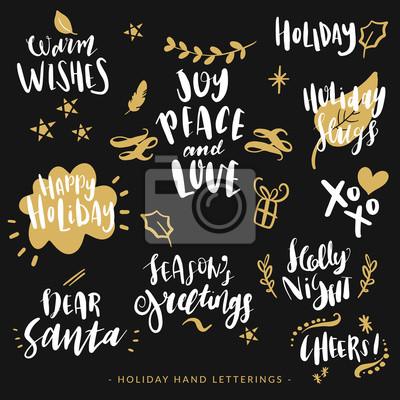 Zitate Weihnachten.Fototapete Hand Gezeichnet Urlaub Schriftzug Weihnachten Zitate Moderne