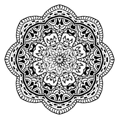 fototapete hand gezeichnet zentangle muster mit einer schneeflocke verwenden sie fr tapeten muster fllt - Zentangle Muster