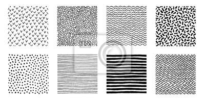 Fototapete Hand gezeichnete Muster Doodle Design