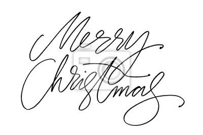 Weihnachten Wörter.Fototapete Hand Gezeichnete Vektorbeschriftung Wörter Frohe Weihnachten