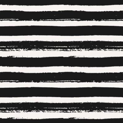 Fototapete Hand gezeichnetes nahtloses Muster Striped